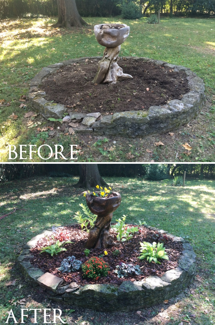 Before After Stone Bed