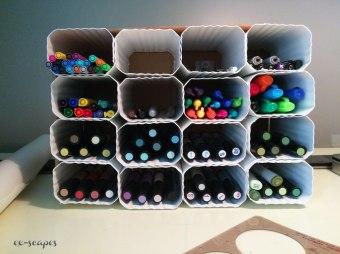 Diy Marker Pencil Pen Storage Cubby Eartheim Landscape Design