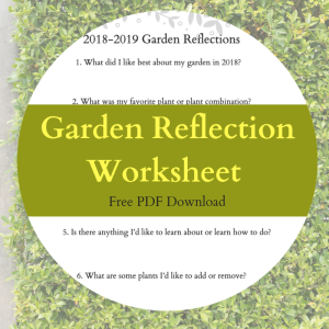 Download a free Garden Reflection Worksheet